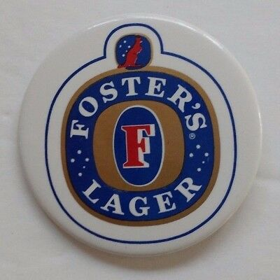 Vintage Fosters Lager Beer Pinback Button Pin