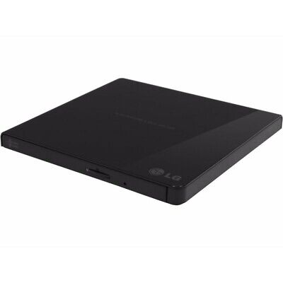 LG GP65NB60 Slim Portable External DVD-RW Drive USB2.0 8x DVD 24x CD Write Black