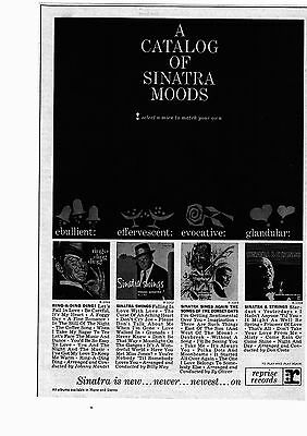 "1964 Frank Sinatra Album Collection ""A Catalog of Sinatra"" Print Advertisement"