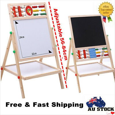 Kids Children Wooden Art Easel Activity Whiteboard Blackboard Board Gift