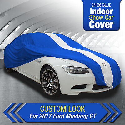 SHOW CAR COVER AUTOTECNICA INDOOR BLUE for 2016 2017 MUSTANG GT  4.9M