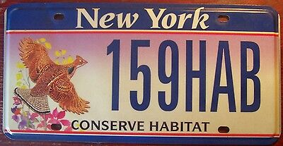 1990s NEW YORK CONSERVE HABITAT WILDLIFE ENVIRONMENTAL BIRD  LICENSE PLATE TAG