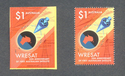 Australia-50th Anniv Satellite gummed & self-adhesive2017 mnh--Space-Science