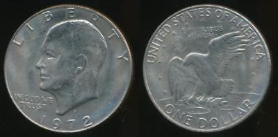 United States, 1972-D One Dollar, $1, Eisenhower - almost Uncirculated