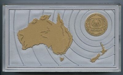 1913-1963 Plastic 2 Compartment Box Golden Jubilee Of Awa Radios In Australasia.