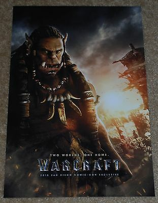 Sdcc 2015 Exclusive Warcraft The Movie Durotan Poster