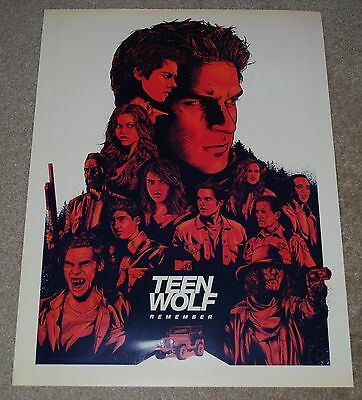 Sdcc 2017 Exclusive Mtv Teen Wolf Remember Poster