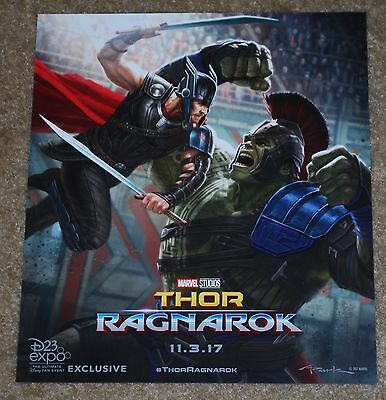 D23 Expo 2017 Exclusive Marvel Studios Thor Ragnarok 11-3-17 By Andy Park