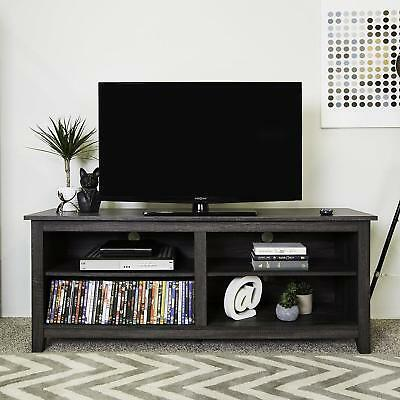 Wood TV Stand Cabinet Entertainment Center LWH Charcoal Media Unit
