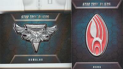 SALE! Star Trek Aliens Badge Pin Set B4 & B5 MATCHING NUMBER SET! 128/200 RARE!