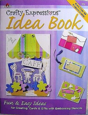 """Plaid """"Crafty Expressions Idea Book"""" Create Cards & Gifts w/ Embossing Stencils"""