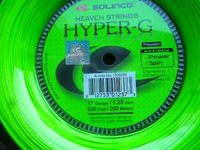Solinco Hyper G,Co-Polyester, Testsieger 2016, 200 Rolle,1,20 mm , made inTaiwan