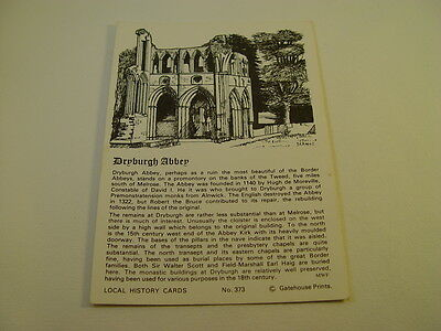 OZ774 - Local History Postcard - Dryburgh Abbey
