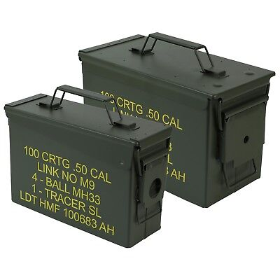 HMF Munitionskiste US Ammo Box Metallkiste Metallbox Transportbox Werkzeugkoffer