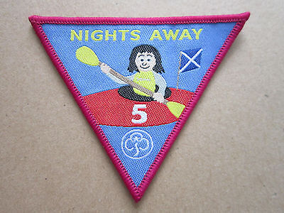 5 Nights Away Girl Guides Cloth Patch Badge (L2K)