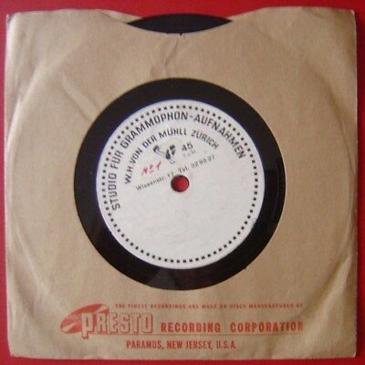 """Unknown Artist*rare Swiss Acetate 6"""" 45 2Side*piano Test*"""