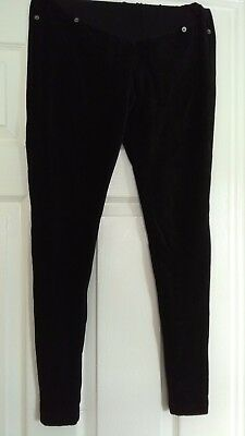 Next maternity black cord jegging trousers over the bump size 8