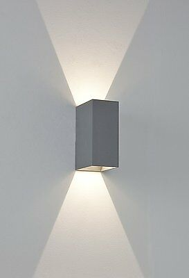Astro - 7060 Oslo 2 Light Up / Down  Wall Light / Painted Silver