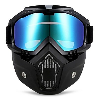 Motorcycle Goggles Helmet Protective Face Shield Bikers Detachable Modular Mask