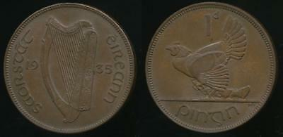 Ireland, Republic, Free State, 1935 One Penny, 1d - Extra Fine