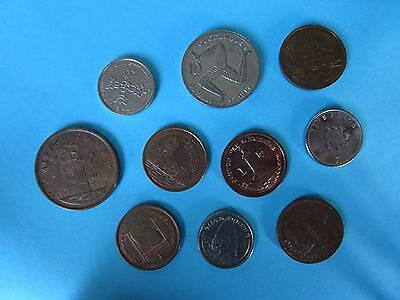 coins of Gibraltar & Isle of Man - 10 different coins of Europe