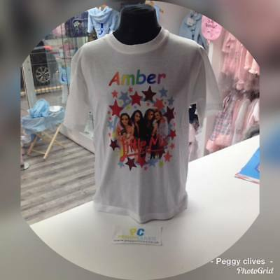 personalised little mix tshirts 2 3 4 5 6 7 8 9 10 11 12 13 child and adult size
