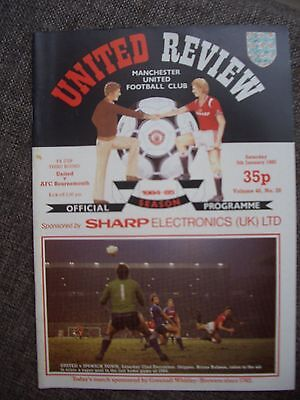 1985...MANCHESTER UNITED v AFC  BOURNEMOUTH...F.A.Cup....Football Programme