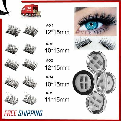 Magnetic Eyelashes 3D Handmade Mink Reusable False Magnet Eye Lashes 4PCS YT