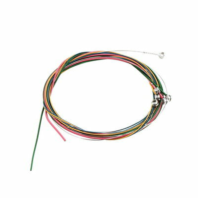 Colorful 1-6 E B G D A E Rainbow Colorful Strings Set for Acoustic Guitar YT