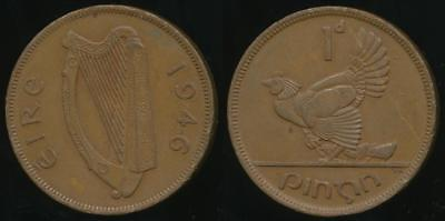 Ireland, Republic, 1946 One Penny, 1d - good Very Fine