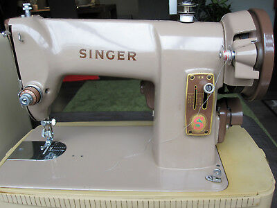 Antike Singer Koffer Nähmaschine 185 K  - Typ BAK 4-11 - Made in Great Britain