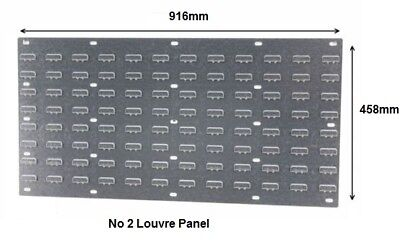 Steel Louvre Panel 916 x 458mm for Plastic Parts Storage bins