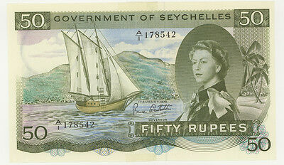 Seychelles 1973 50 Rupees SEX note last issue P-17e AU-U extremely rare!!!