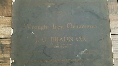 Wrought Iron Ornaments By Braun Antique Architecture Decor Graphic Sales Catalog