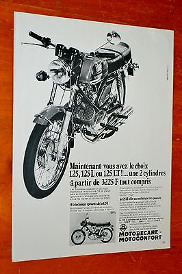 Cool 1972 Motobecane 125 Lt Motorcycle French Ad - Moto Vintage Bike Ancienne