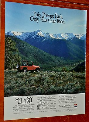 Cool 1994 Jeep Wrangler 4 X 4 In The Mountains Ad - Retro American 90S