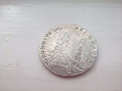 1787 George III Silver Sixpence, Scarce Coin
