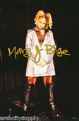 Lot Of 2 Posters: Music : Mary J. Blige - Black Boots  - Free Ship #8246  Lw26 D