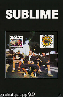 Lot Of 2 Posters: Music : Sublime - Skunk Records     Free Ship   #3456  Lw26 M