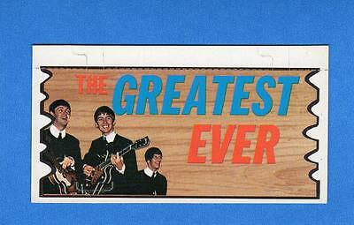 The Beatles Plaks Topps # 8 THE GREATEST EVER