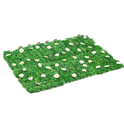 25*25cm Plastic Encryption Artificial Grass Lawn Turf Plants Carpet Garden Decor