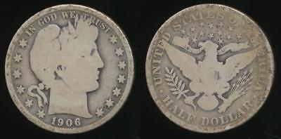 United States, 1906 Half Dollar, Barber (Silver) - Good