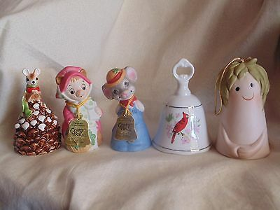 Lot of 10 ceramic and porcelain collector bells