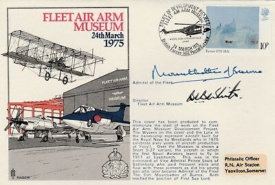 RNSC Fleet Air Arm Museum cover signed Admiral of the Fleet , Earl Mountbatten