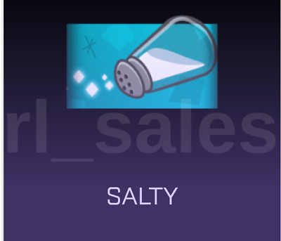 Rocket League Salty Animated Banner New Item Very Rare Salt Xbox One AC ACC