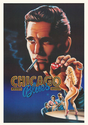 Lot Of 2 Posters: Movie Repro: Chicago Blues   - Free Ship    #6250      Lw27 O