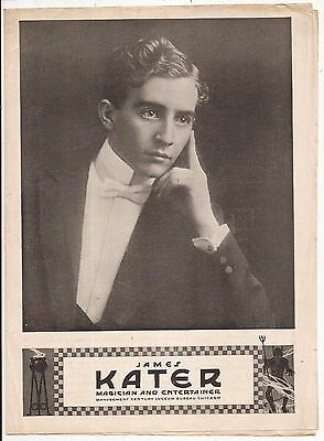 JAMES KATER MAGICIAN AND ENTERTAINER PROMOTIONAL FLYER - Thompson circa 1910