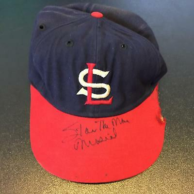 1950's Stan Musial Signed Game Used St. Louis Cardinals Hat Cap PSA DNA COA