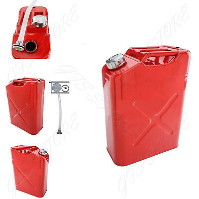 5 Gallon 20L Gas Gasoline Fuel Army NATO Can Military Metal Steel Tank Backup