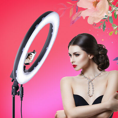 14'' 5500K Dimmable LED Ring Light Video Photo Photograph Diffuser Light Stand
